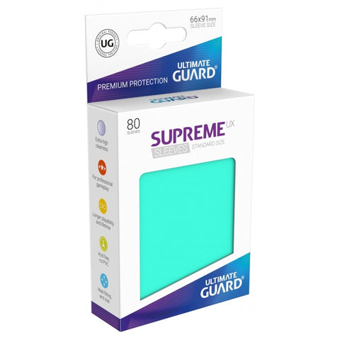 Ultimate Guard Supreme Sleeves Turquoise (80)