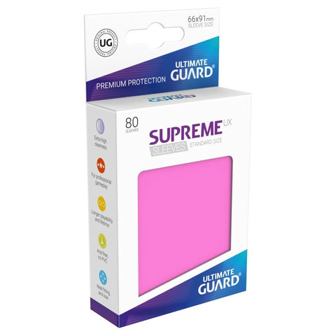 Ultimate Guard Supreme Sleeves Pink (80)