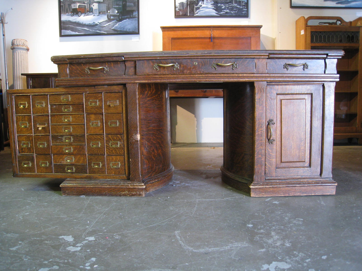 SOLD Rotary Pedestal Desk