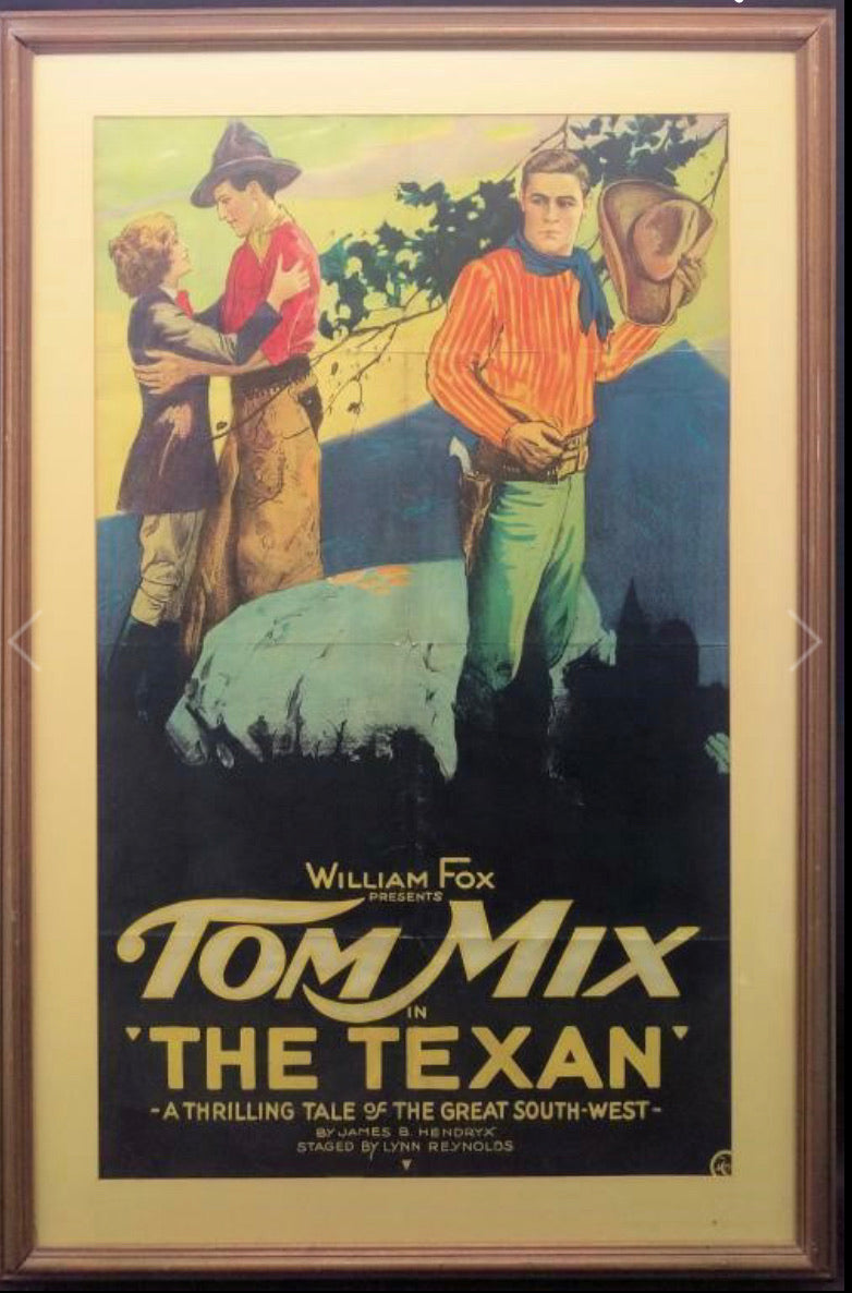 1920 Western Movie Poster : the Texan