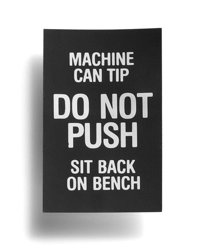 Do Not Push Decal