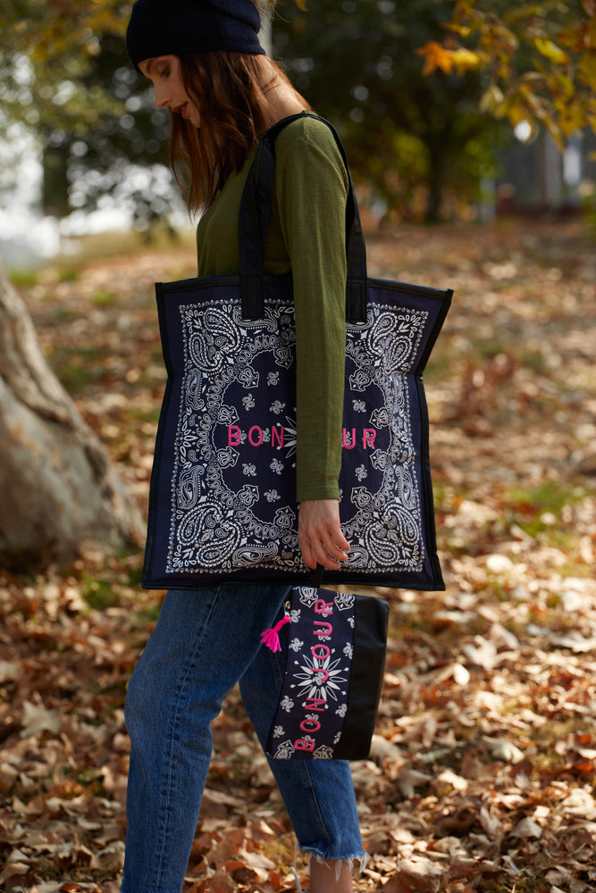 Load image into Gallery viewer, Bon Jour Bandana Bag