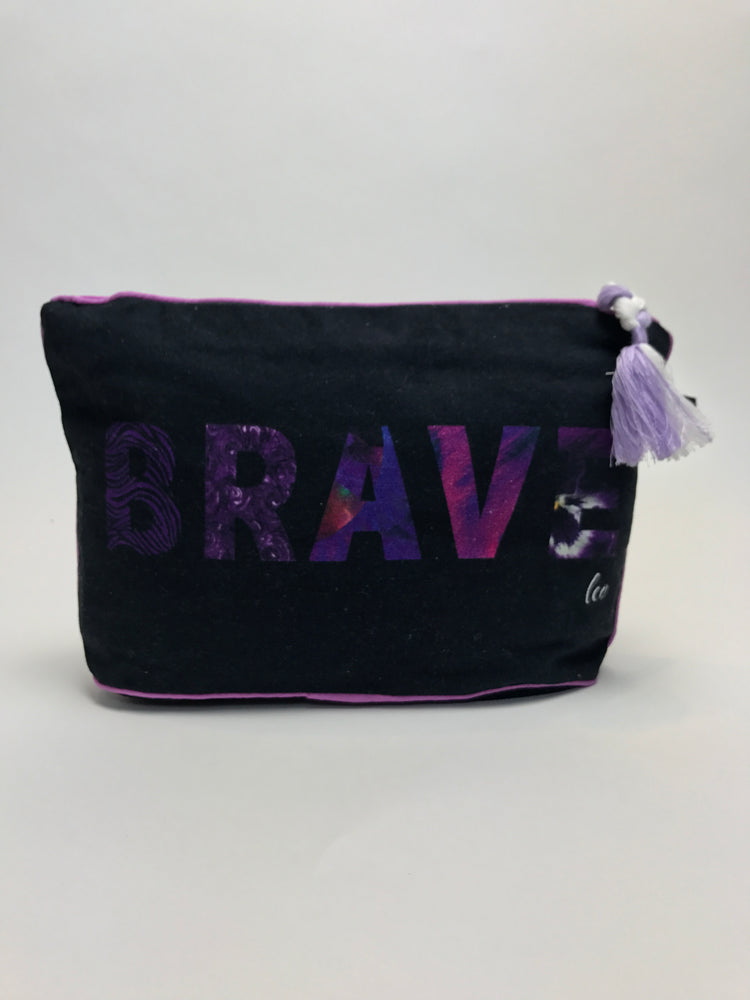 Load image into Gallery viewer, 7 x 11 BRAVE: Leo Zodiac Pouch