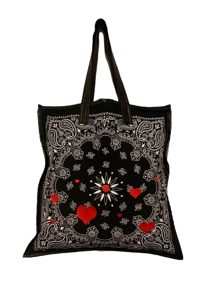 Load image into Gallery viewer, Heart Bandana Bag