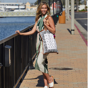 Plain White Bandana Bag