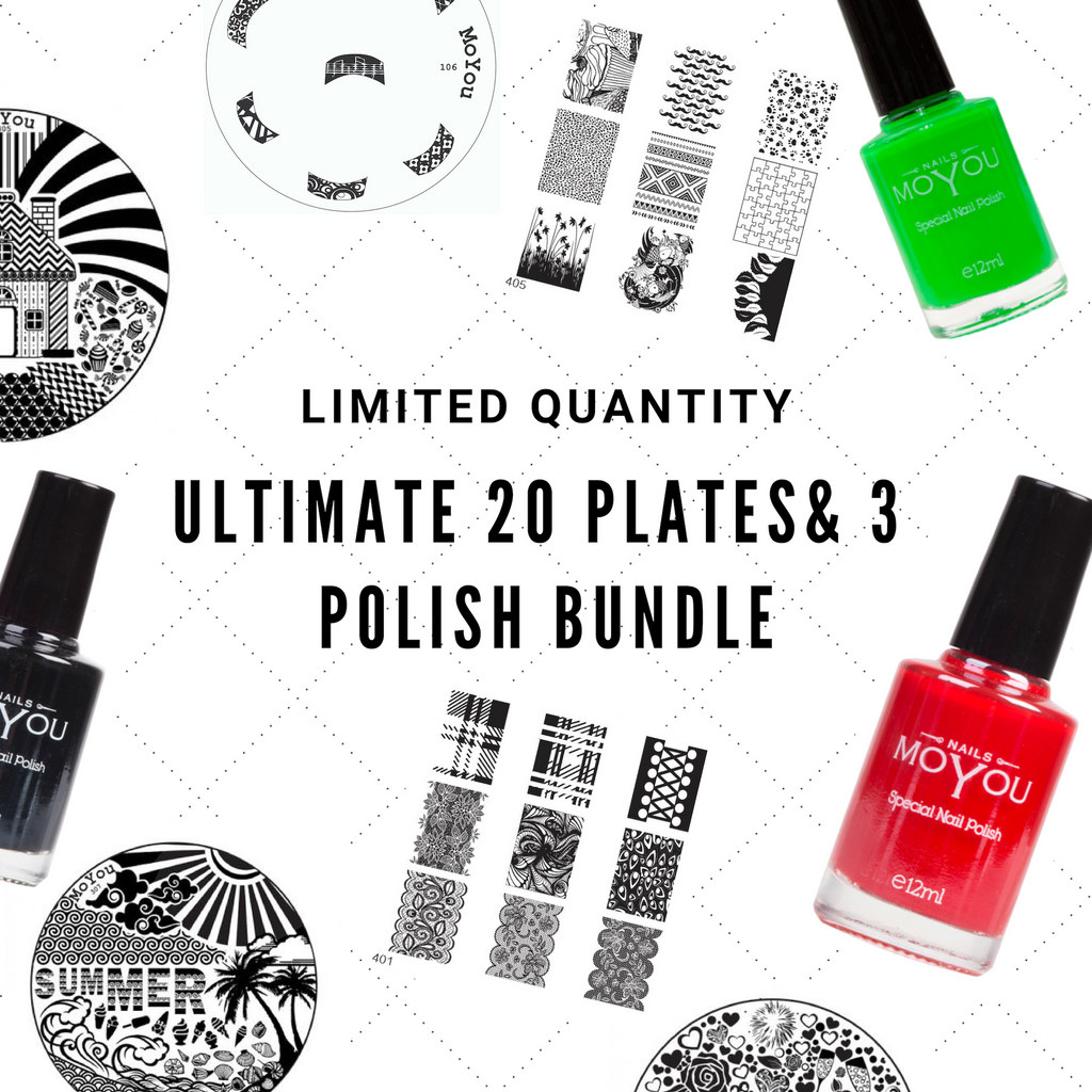 Ultimate 20 Plate & 3 Polish Bundle