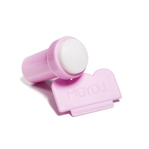 MoYou Pink & White Stamp and Scraper - MoYou Nail Fashion