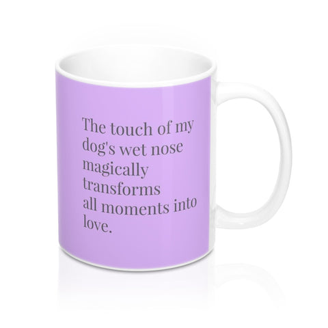 dog lover purple mug image