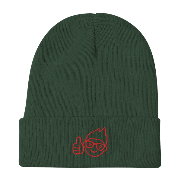 Be Epic Holiday Embroidered Beanie Green & Red