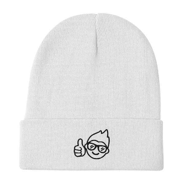 Be Epic Embroidered Beanie White & Black