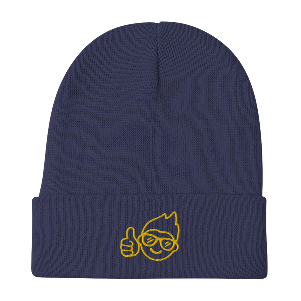 Be Epic Embroidered Beanie Navy Blue & Gold