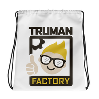 Truman Factory Drawstring Bag White