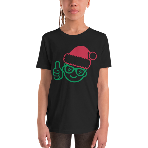 Be Epic Holiday Edition Youth T-Shirt Black & Green/Red