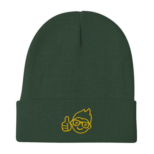 Be Epic Embroidered Beanie Green & Gold
