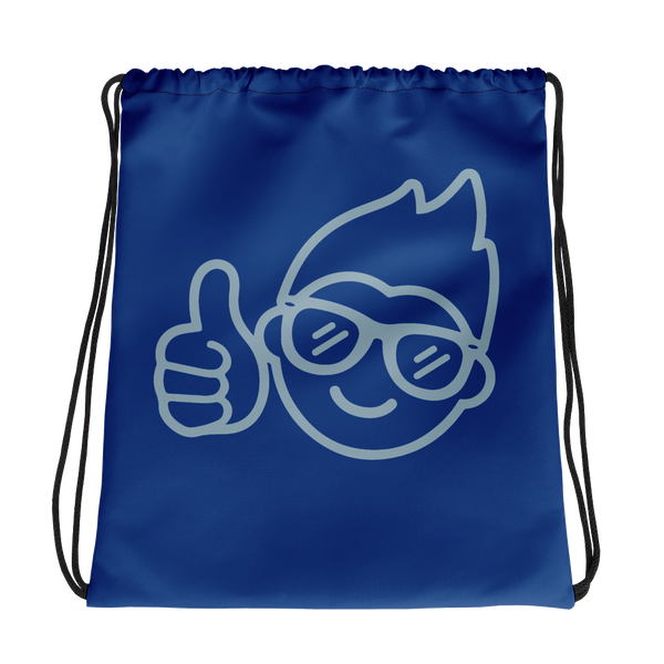 Be Epic Drawstring Bag Blue & Blue