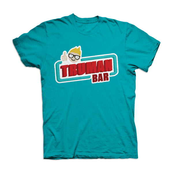 Truman Bar Chocolate Aroma Tshirt Blue - It Really Smells Like Delicious Chocolate!