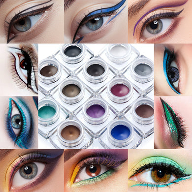12 Colors Eye Liner Waterproof Pearlescent Matte