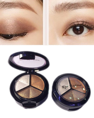 Professional 3 Warm Color Eye Shadow Beauty Makeup Set
