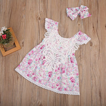 Toddler Floral Lace Crochet Sundress