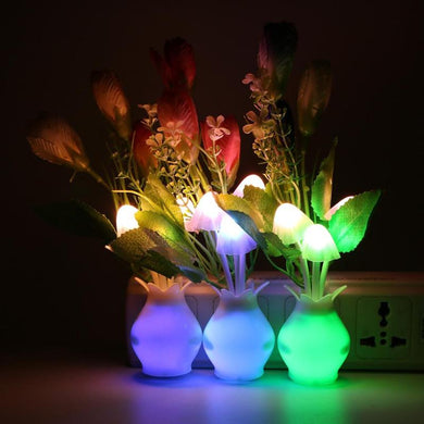 4LED Night Light Mushroom Flower Bedroom Decoration