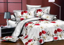 3/4pcs Wedding Floral Printed Bed linens