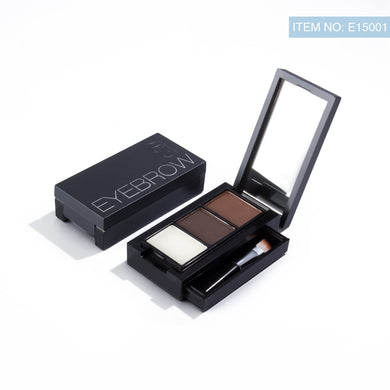 Eyebrow Enhancer Makeup powder With Brush Mirror