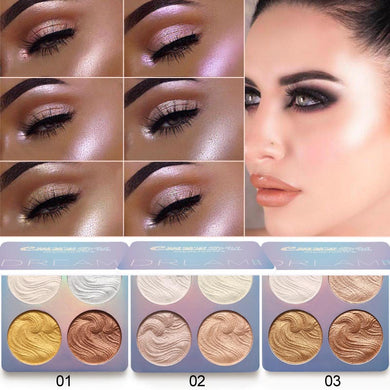 Highlighter Facial Bronzers Palette Makeup
