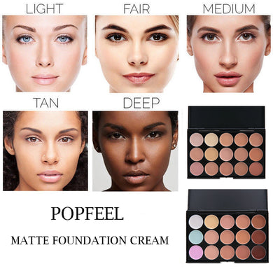 Professional Makeup Concealer Powder Palette 15 Colors