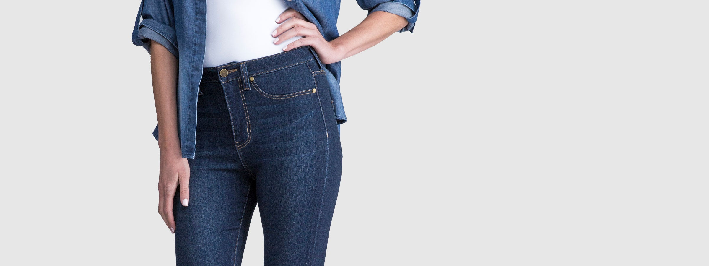 Liverpool Highwaist Styles, High-rise denim
