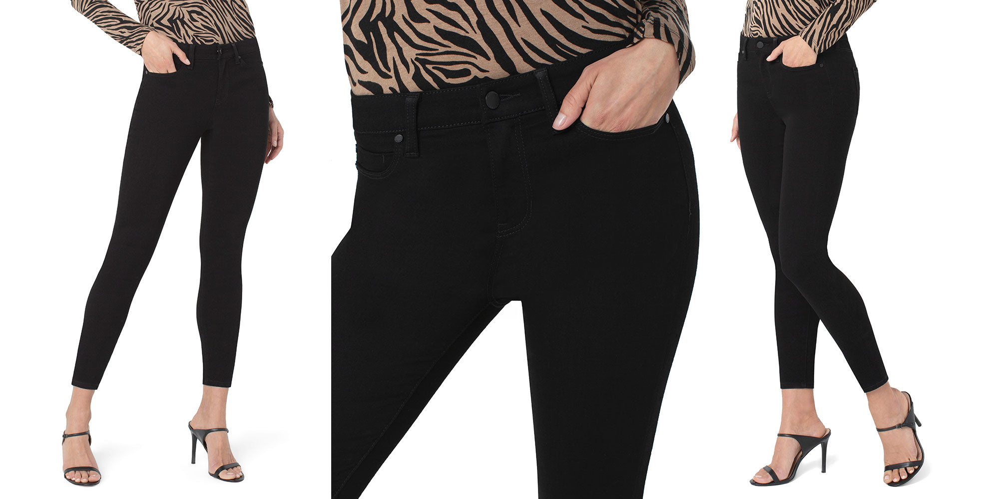 LIVERPOOL ECO ABBY ANKLE SKINNY IN STAY BLACK