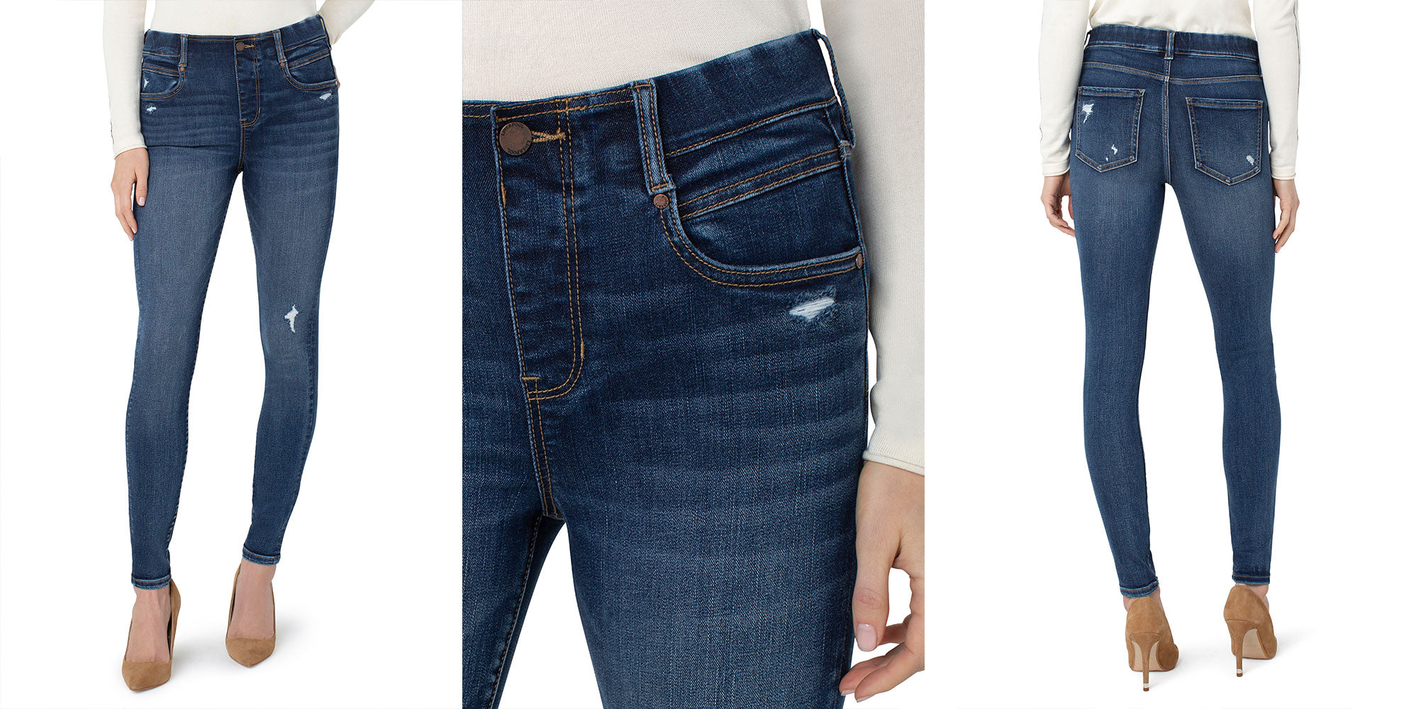 LIVERPOOL LOS ANGELES GIA GLIDER SKINNY ECO IN WESTLER WASH