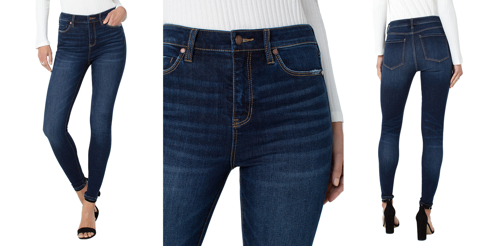 LIVERPOOL ECO ABBY HI-RISE SKINNY IN COLLINS