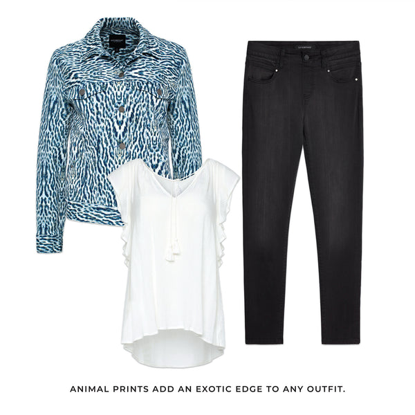 Liverpool outfit solutions to any occasion. Animal prints add an exotic edge to any outfit.