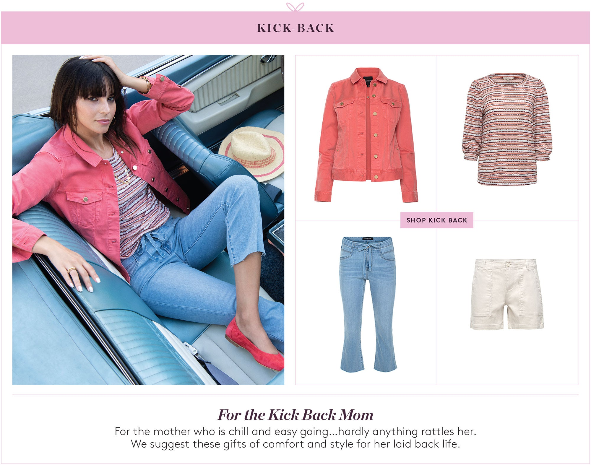 For the Kick Back Mom: For the mother who is chill and easy going...hardly anything rattles her.  We suggest these gifts of comfort and style for her laid back life.