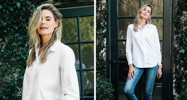 ELEVATED BASICS: THE HIDDEN PLACKET WHITE BUTTON DOWN