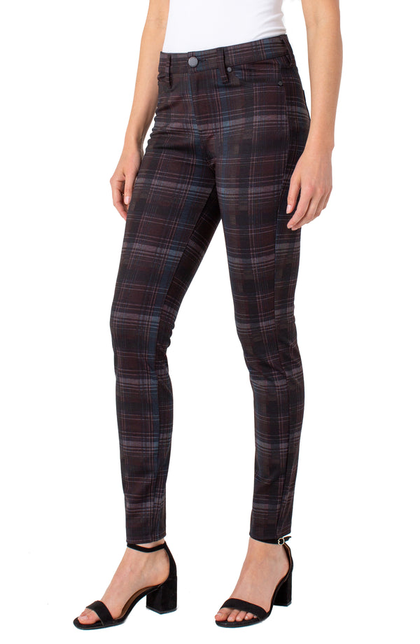 BLACK TAN MERLOT TARTAN PLAID