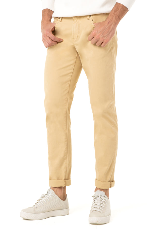 KINGSTON MODERN SLIM STRAIGHT PEACHED COLORED TWILL