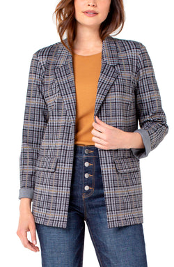 GREY BLACK GLEN PLAID-1