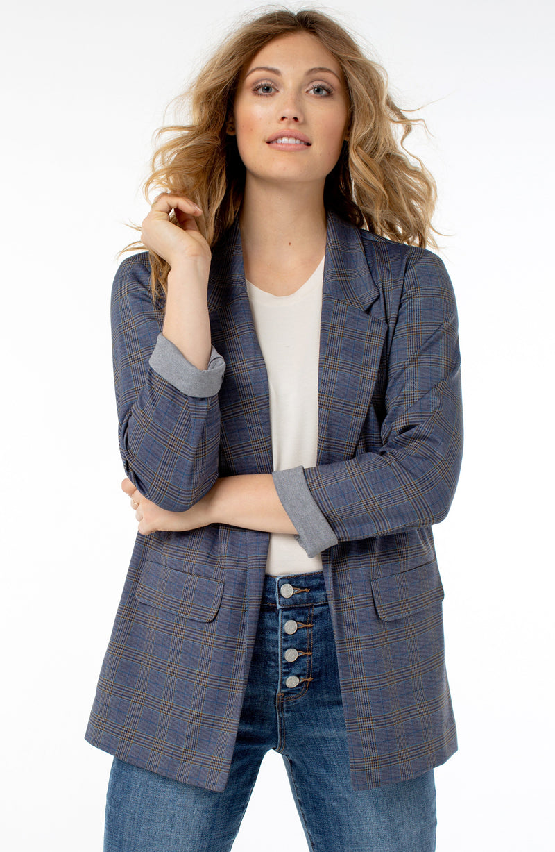 NAVY KHAKI PLAID
