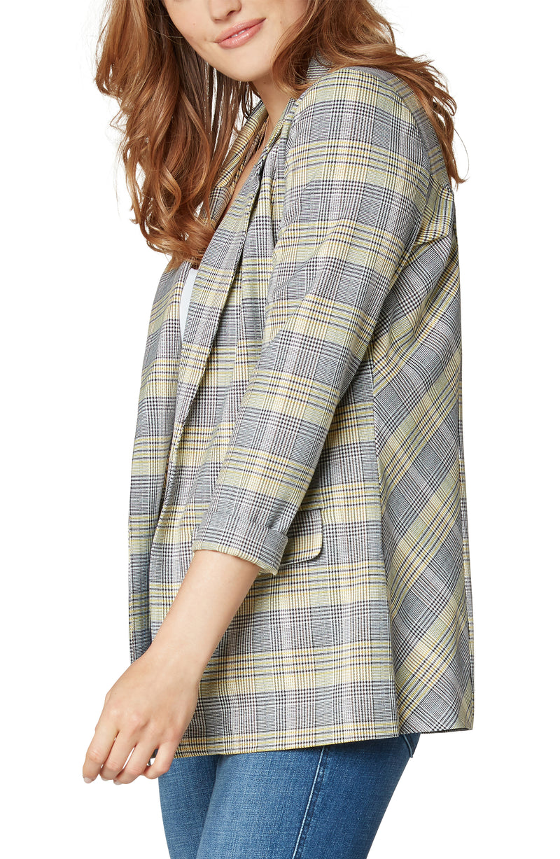 YELLOW BLACK WHITE GLEN PLAID-2