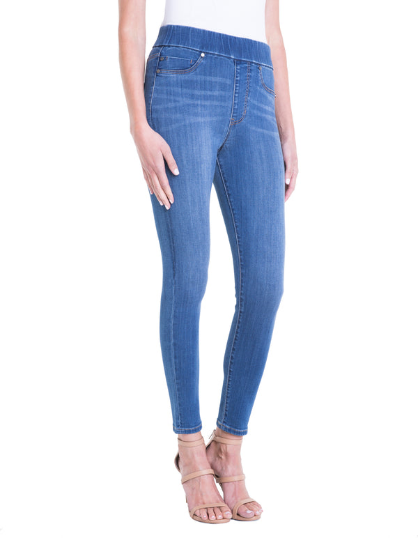 FARRAH HIGHWAIST PULL-ON ANKLE HIGH PERFORMANCE DENIM