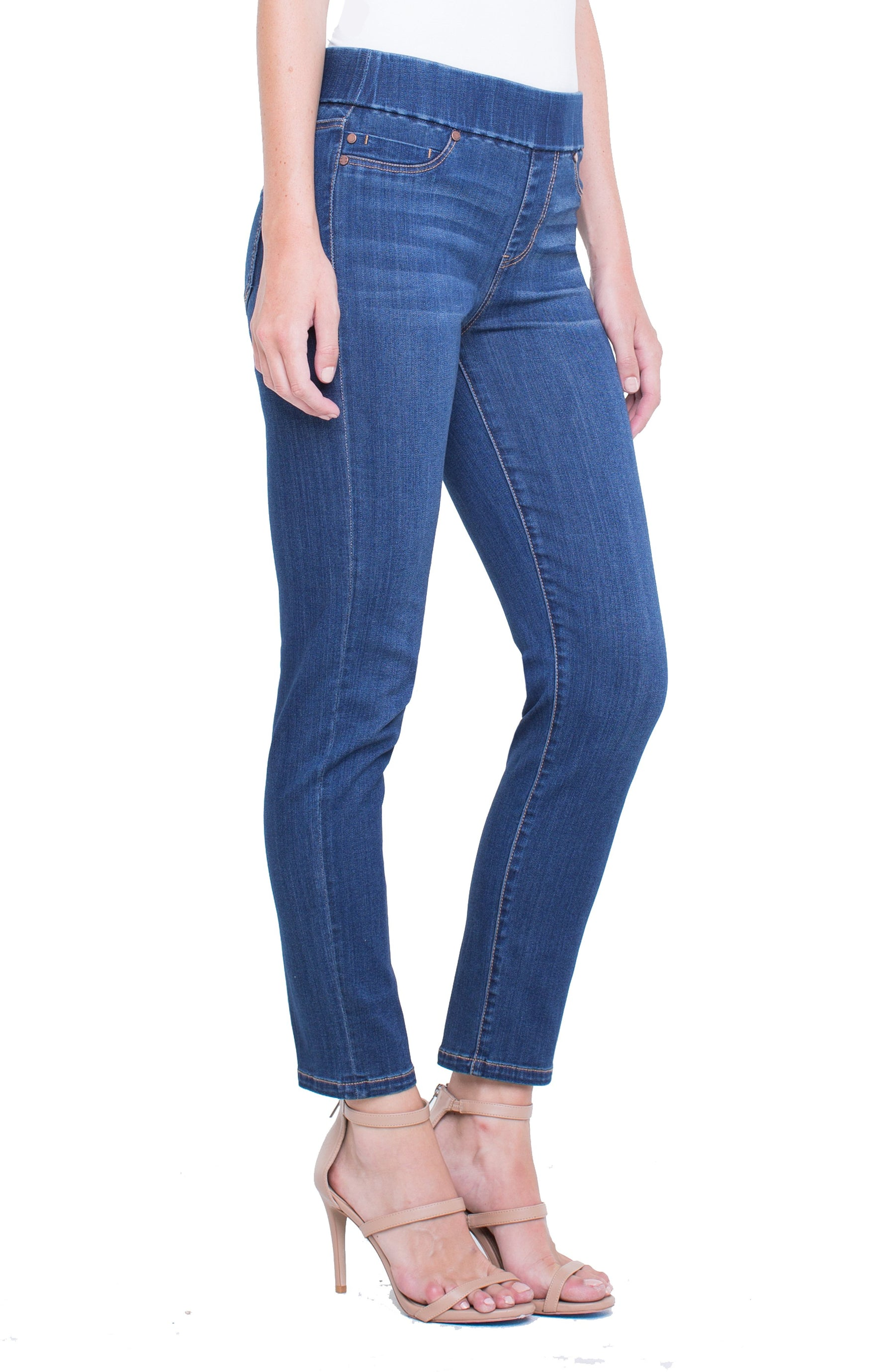 5c7b3b35 JEANS | MEREDITH ANKLE SLIM HIGH PERFORMANCE DENIM | LIVERPOOL JEANS