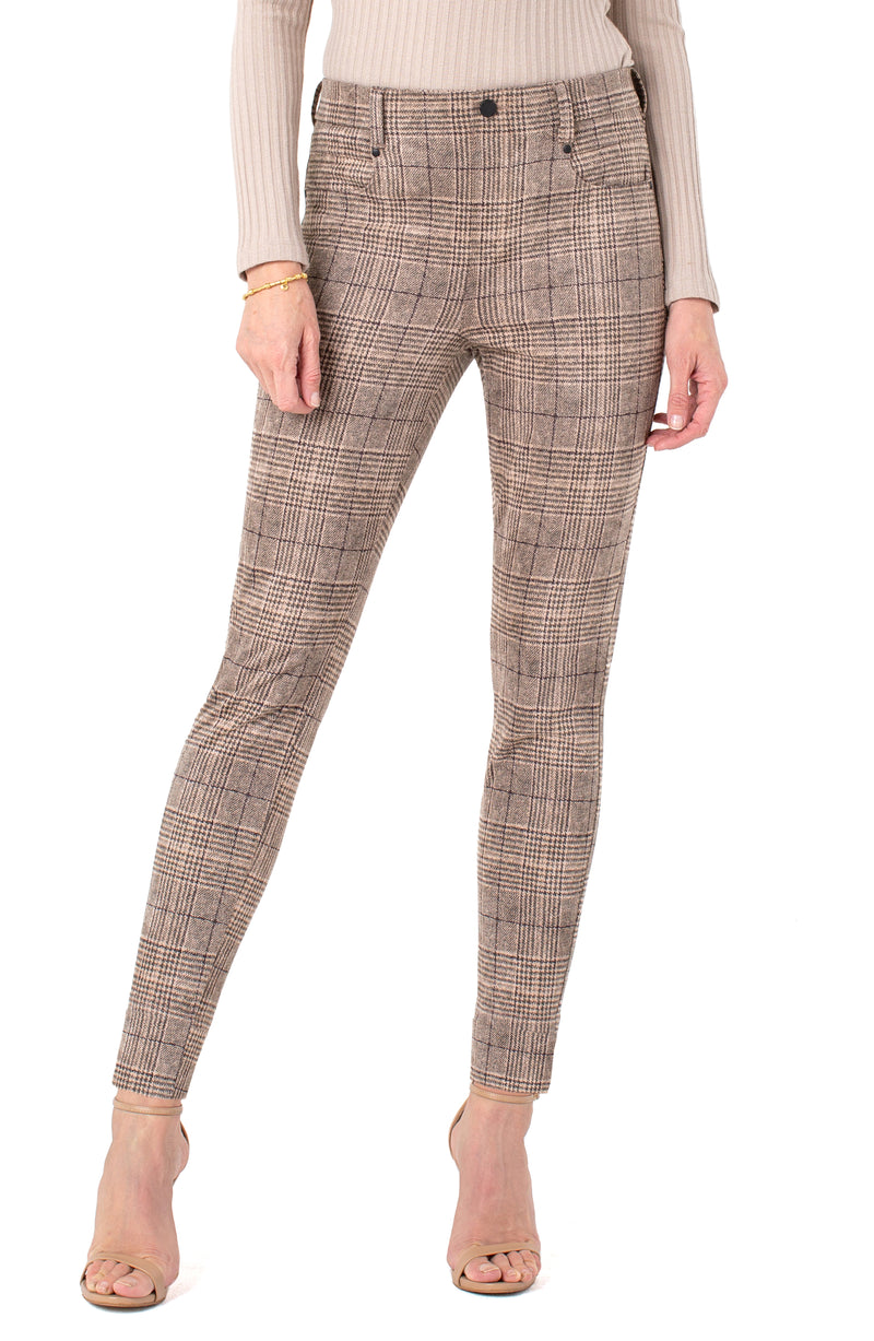 TAN BLACK GLEN PLAID