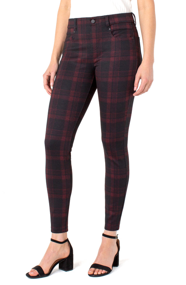 RED BLACK TARTAN PLAID