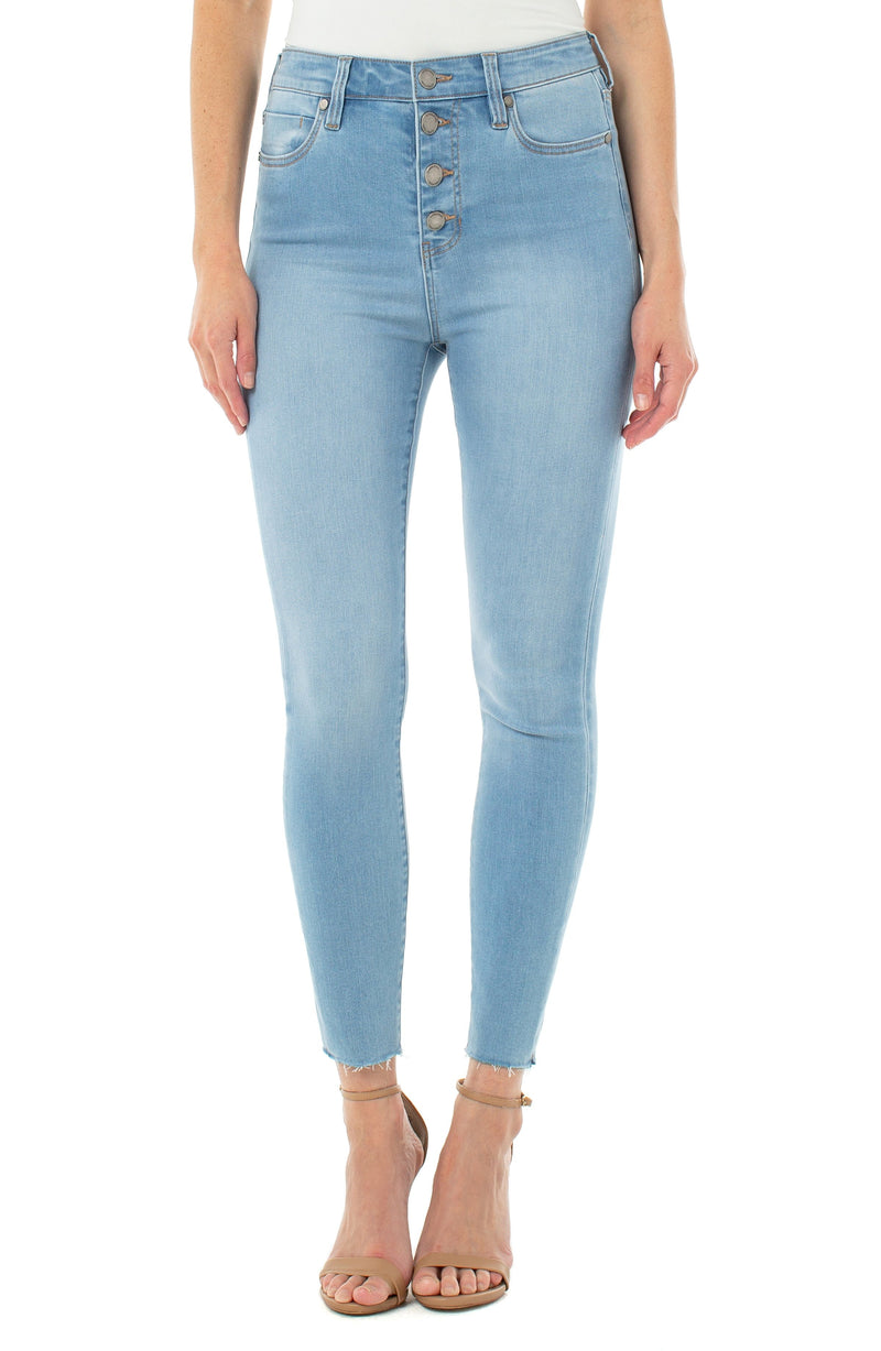 ABBY HI-RISE ANKLE SKINNY WITH EXPOSED BUTTONS