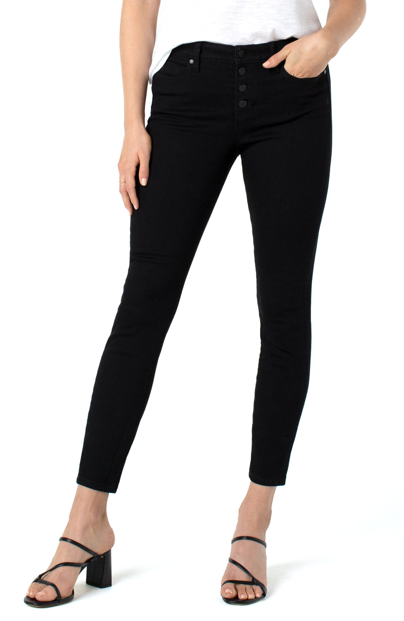 ABBY ANKLE SKINNY WITH EXPOSED BUTTONS ECO-2