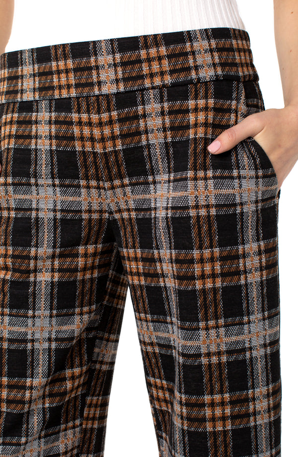 GREY RUST BLACK TARTAN PLAID