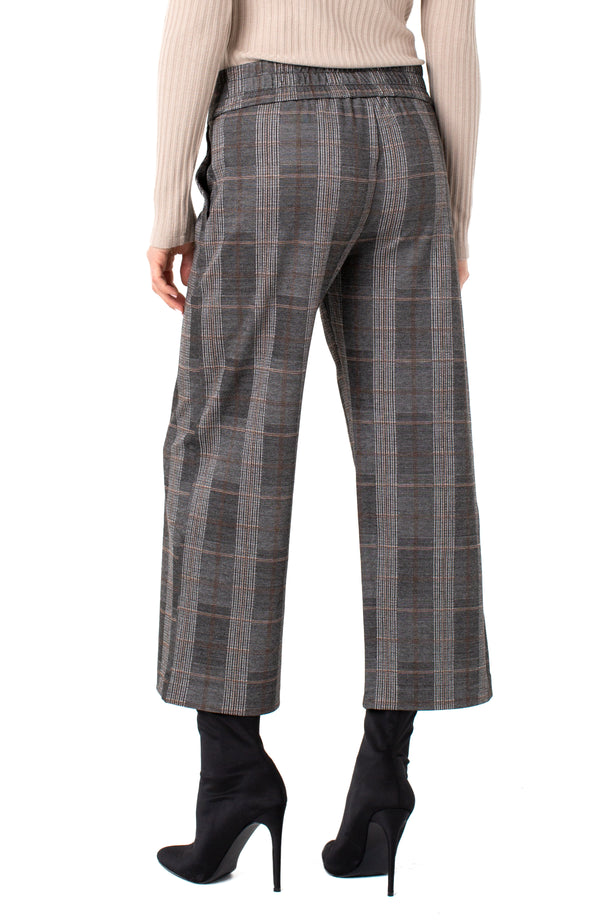 CREAM TAN BLACK GLEN PLAID
