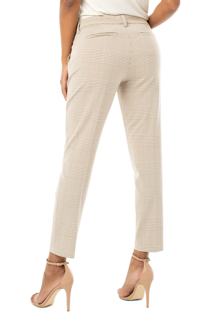 TAN WHITE CHECKER PLAID