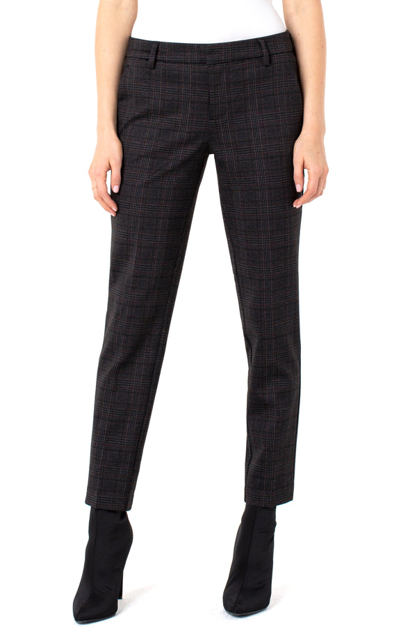 GREY BLACK GLEN PLAID